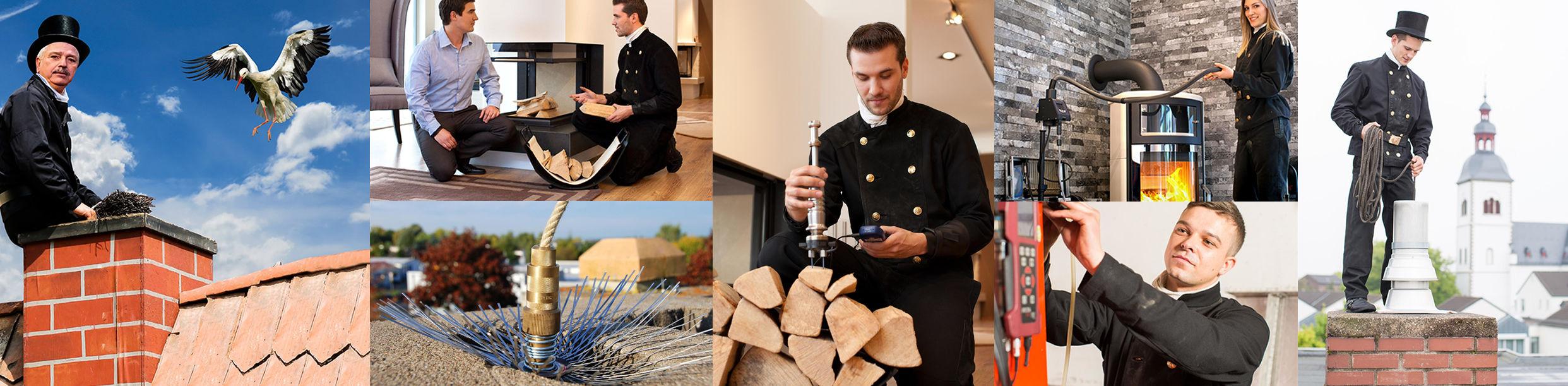 Bildercollage der Kreispruppe Segeberg der Schornsteinfegerinnung Lübeck